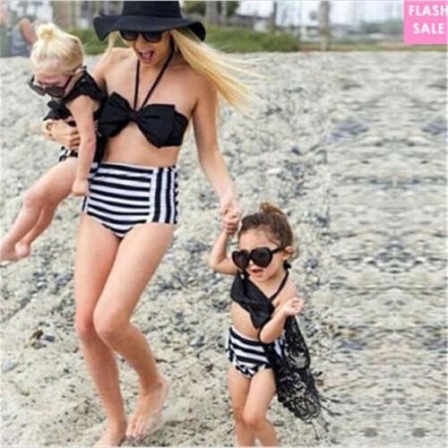Summer Family Matching Outfits Set Swimwear