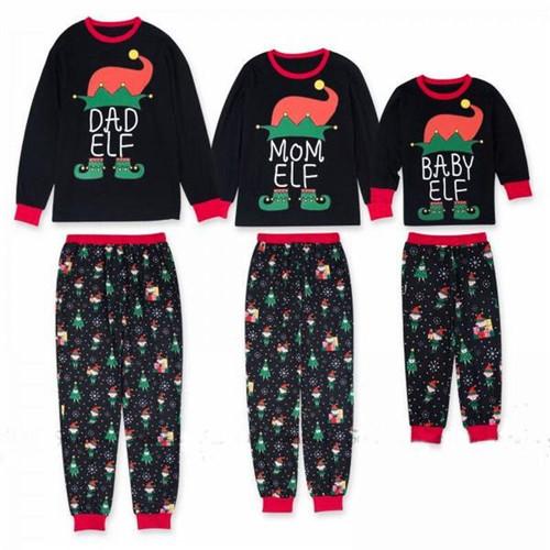 Christmas Family Matching Outfits Elf Pajamas Set