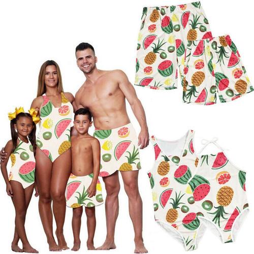 Summer Casual Family Matching Swimwear