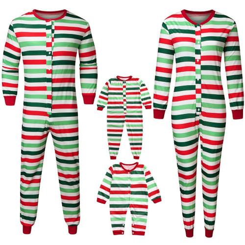 Family Matching Christmas Pajamas Striped