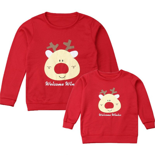 Christmas Family Matching Outfit Reindeer Design