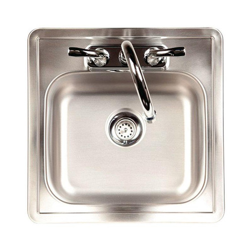 Kindred Stainless Steel Top Mount  15 in. W x 15 in. L One Bowl  Bar