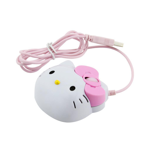 3D Cartoon Hello Kitty Wired Mouse USB 2.0 Gaming Mouse
