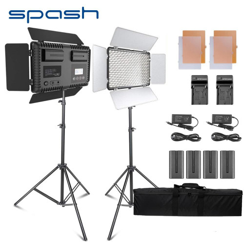 2 Sets Studio Light LED Video Light 600 Beads 25W