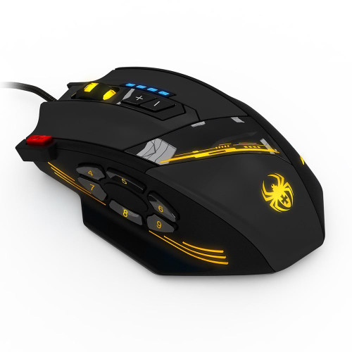 Wired Mouse USB Optical Gaming Mouse 12 Programmable Buttons