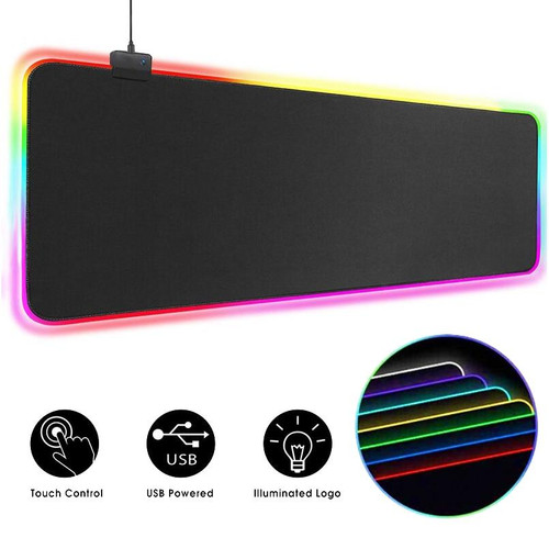RGB Mouse Pad Gaming Mouse Pad Computer Large Mousepad Backlit XXL