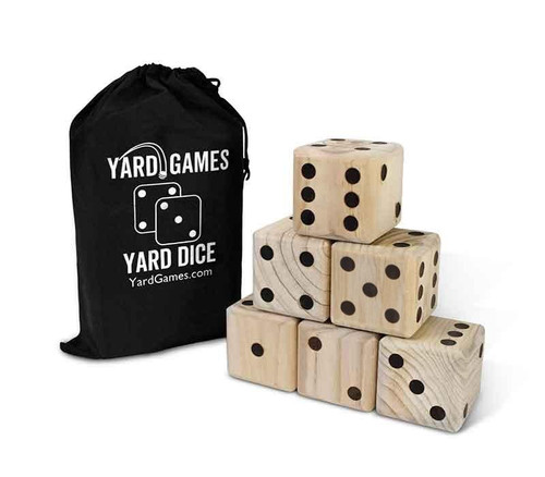 Giant Wooden Yard Dice Game