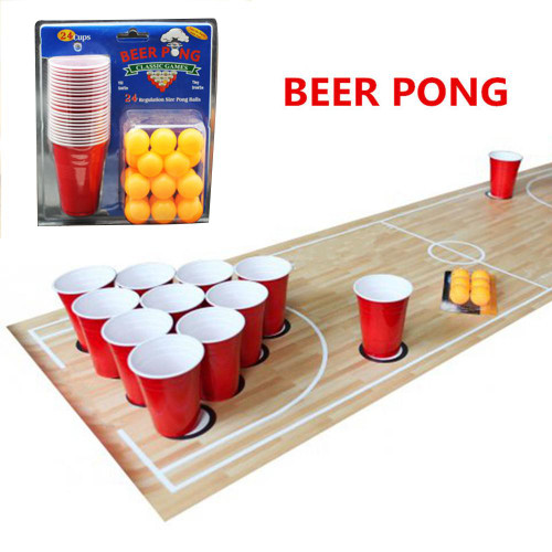 1 Set Entertainment Fun Drinking Party Ping Pong Game