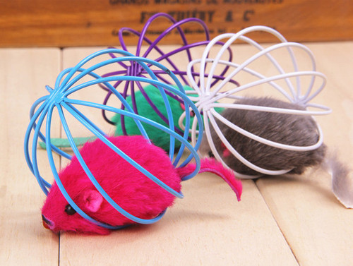 1pc Cat Toys Pet Supplies Rat In A Cage