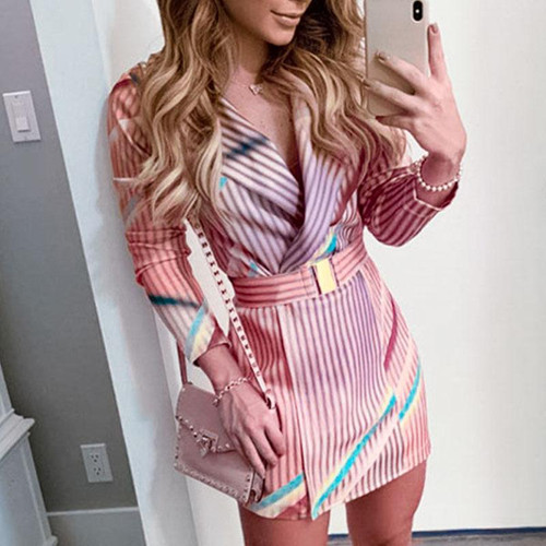 Conmoto Sexy Stripe Club Dress
