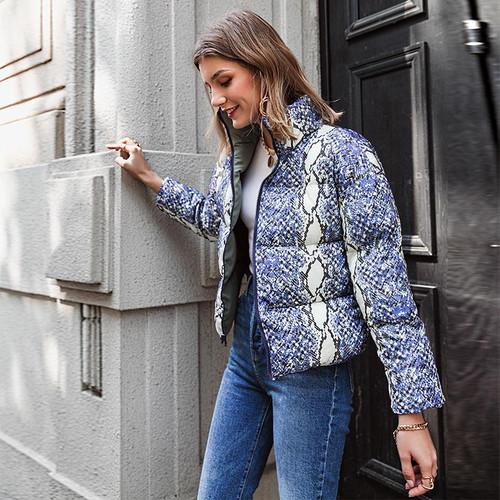 Casual Animal pattern Long sleeve zippers outwear