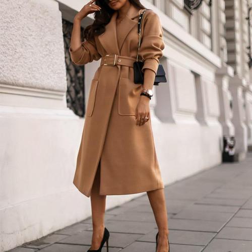 Camel wool coat High street fashion