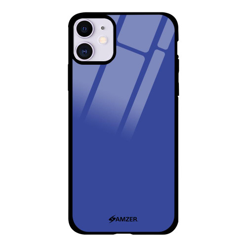 AMZER Glass Case with HD Design - Denim Blue