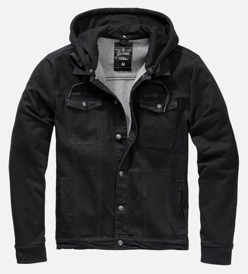 Cradock All Black Denim Sweat Jacket