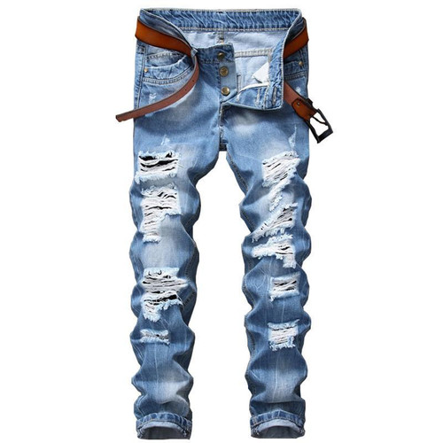 Men's Ripped Jeans Pants