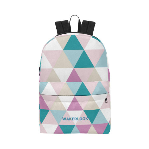 Shape triangle diamond pink white All-Over Print Backpack