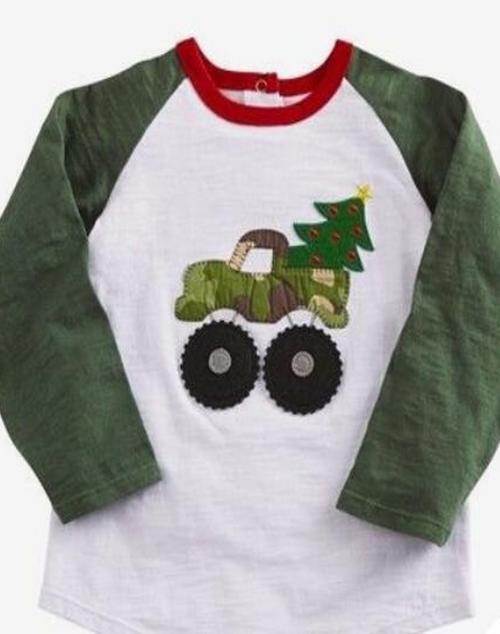 Camo Truck Christmas Shirt