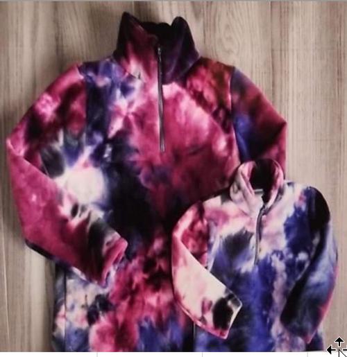 Blue & purples quarter zip fleece