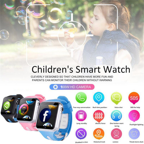 High quality GPS Kids Smart watch w/Camera