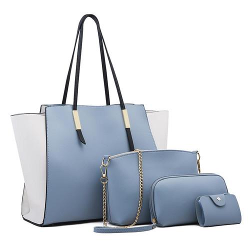 Women's solid color 4pc Bag in a unique Design