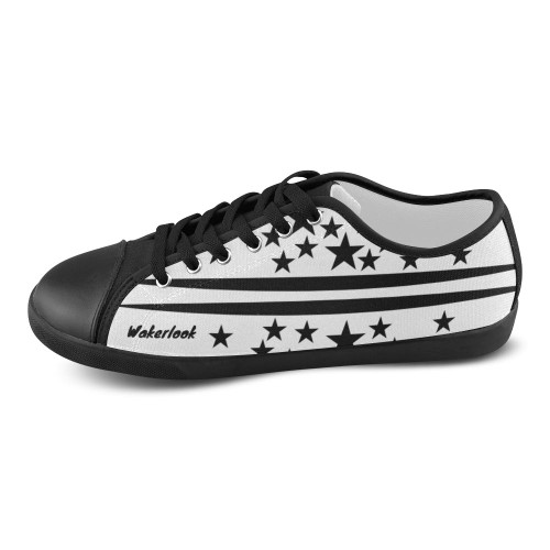 Black Stars Wakerlook Canvas Men's Shoes