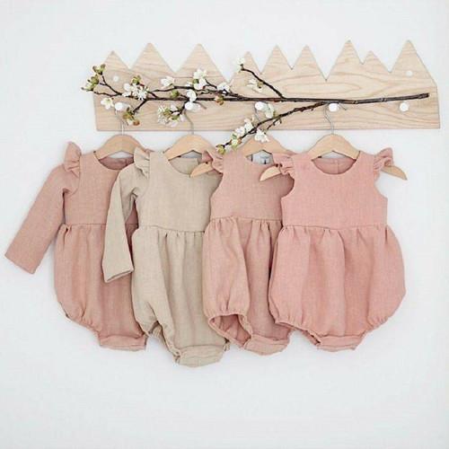 Cotton Newborn Onesie & Bonnet Set
