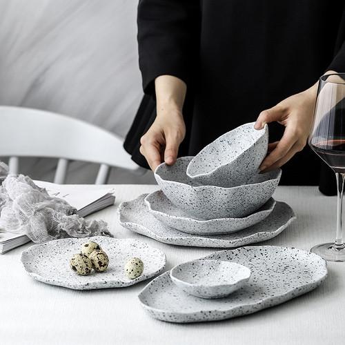 Granite Pattern Ceramic Dish