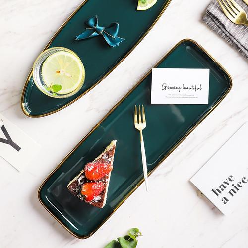 Green Ceramic Dinnerware Set