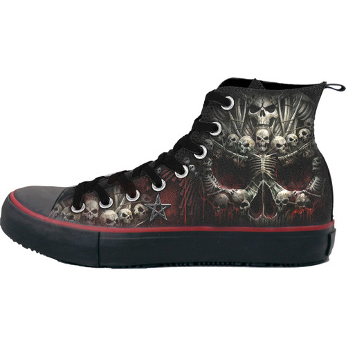 DEATH BONES - Sneakers - Men's High Top Laceup