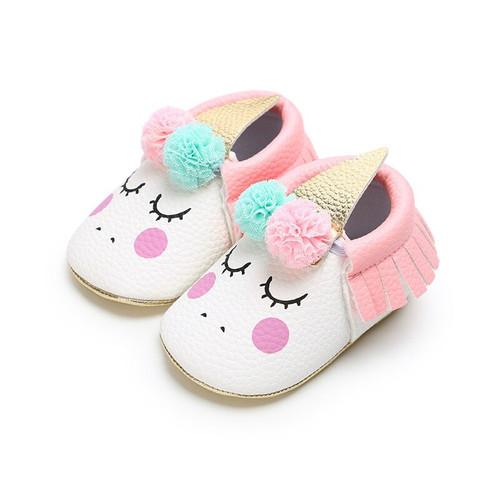 Newborn Unicorn Slip on Shoes