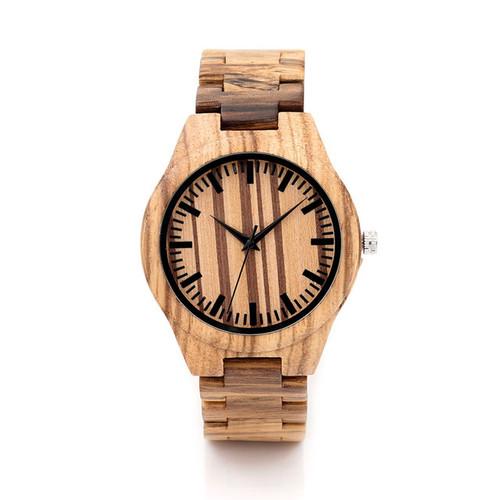 All Zebra Wood Men's Quartz Watch Analog
