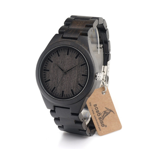 Men's Watches All Black Wood