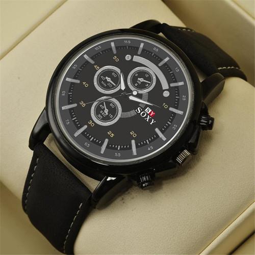 Analog-Quartz Wrist Watch Mens (3 Eyes)