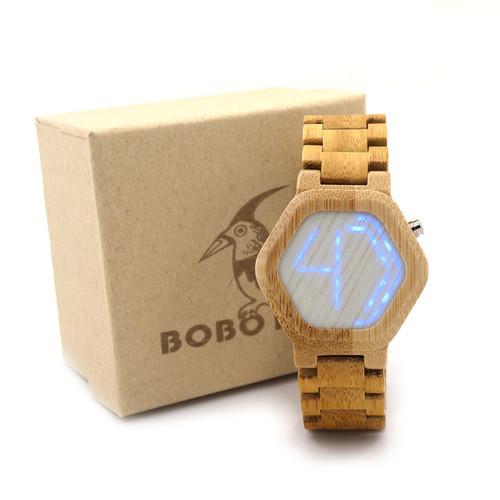 Bamboo Wooden Wrist Watch Women's