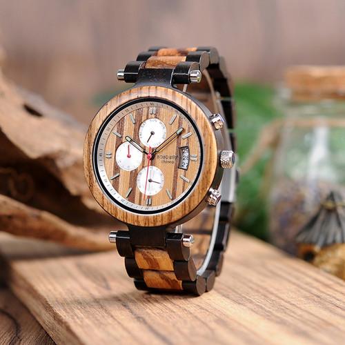 Wooden Men's Watches Bearing Design
