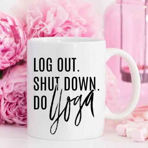 Yoga Mug, Shut Down Do Yoga