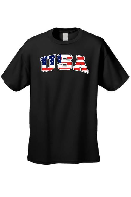 USA Flag T Shirt Boy's American Pride Short Sleeve Tee