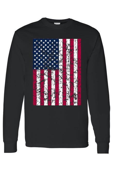 Unisex Freedom American Pride Distressed Flag Long Sleeve shirt