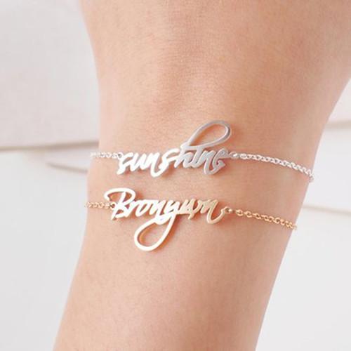 Custom Baby Nameplate Bracelets Handmade