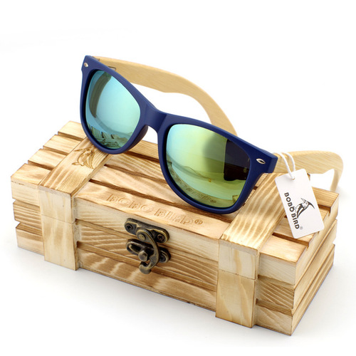Men's Bamboo Wood Sunglasses in Vintage Style