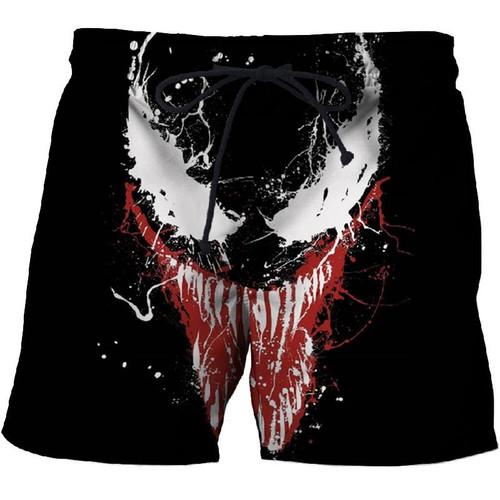 3D Printed Venom Shorts for Men Cool Shorts