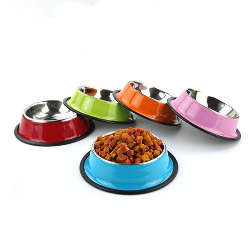 Pet Dog Stainless Steel Bowls Puppy Cats Food