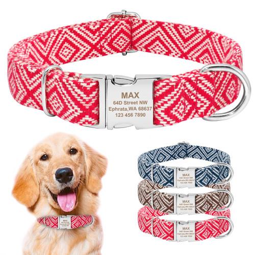 Personalized Dog Collar Custom Puppy Pet Collars