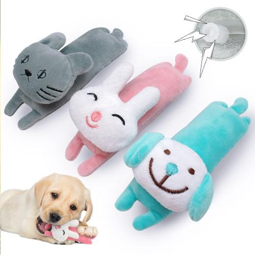Dog Pet Plush Toy Funny Interactive Fleece Chew