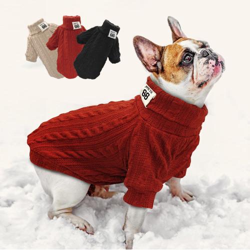 Puppy Dog Knit Sweater Pet Cat Warm Winter Classic