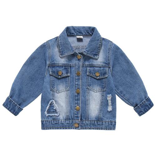 Kids Jacket Coat Autumn Witner Fashion Jeans Coat