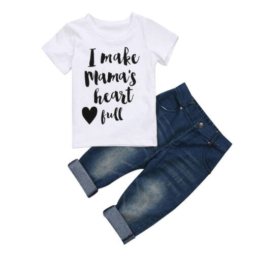Toddler Boy's Tops T-Shirt Jeans