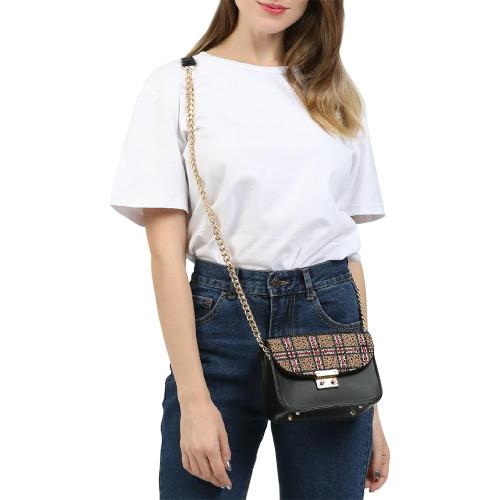 Tartan Design Small Shoulder Bag