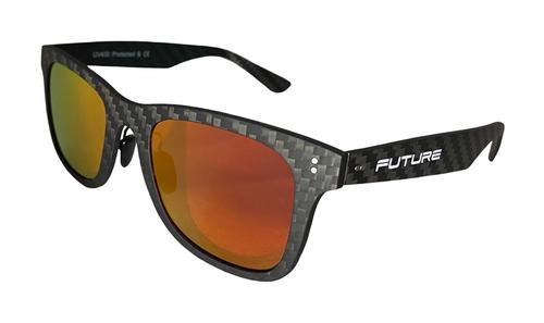 Full Carbon Fibre Sunglasses | Polarised Corsica Red