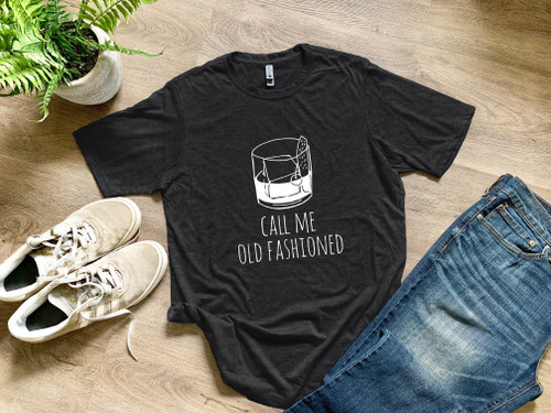 Call Me Old Fashioned - Men's Tee - Charcoal - Sale